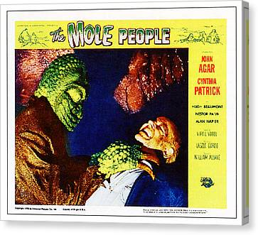 The Mole People, On Right Nestor Paiva Canvas Print by Everett