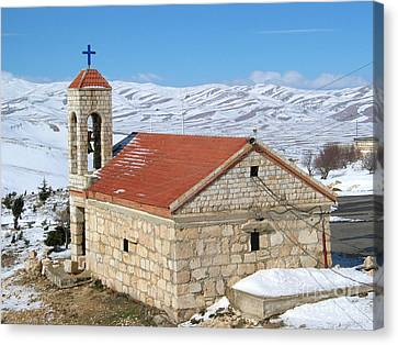 The Monastery Of Sheirobeem Canvas Print by Issam Hajjar