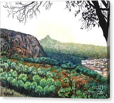 The Mountain Above Kabala Sierre Leone Canvas Print by Caroline Street