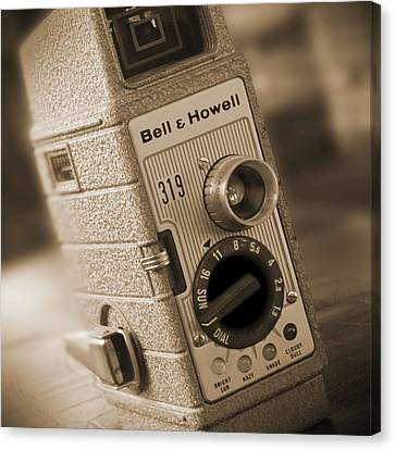 The Movie Camera Canvas Print by Mike McGlothlen