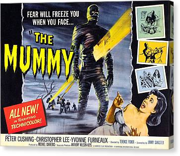 The Mummy, As The Mummy Christopher Canvas Print by Everett