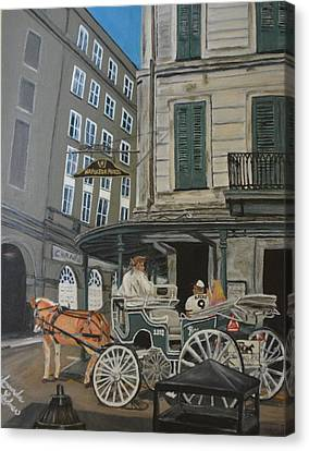 The Napolean House Canvas Print by Amanda Ladner