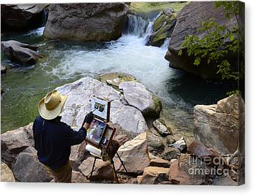 The Narrows Quality Time Canvas Print by Bob Christopher