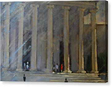 the National Gallery study Canvas Print by Len Stomski