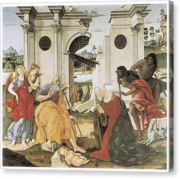 The Nativity Canvas Print by Francesco Di Giorgio Martini