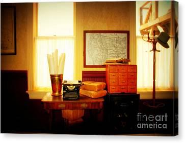 The Office Old Tuscon Arizona Canvas Print by Susanne Van Hulst