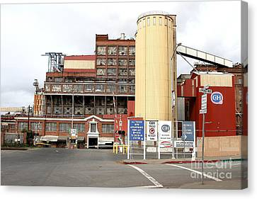The Old California And Hawaii Pure Cane Sugar Company In Crockett California Canvas Print by Wingsdomain Art and Photography