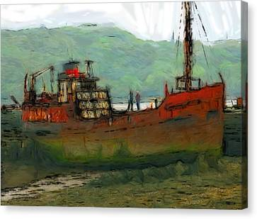 The Old Fishing Trawler Canvas Print by Steve K