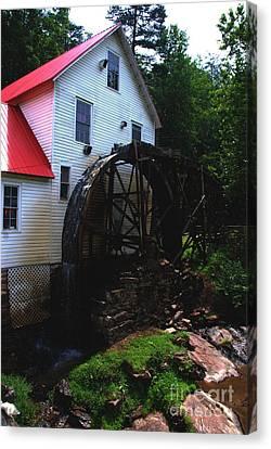 The Old Mill 1886 In Cherokee North Carolina - II  Canvas Print by Susanne Van Hulst