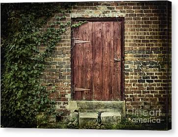 The Old Red Door Canvas Print by Sari Sauls