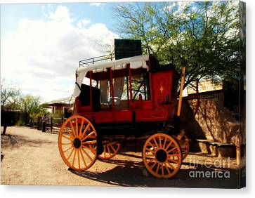 The Old Stage Coach Canvas Print by Susanne Van Hulst