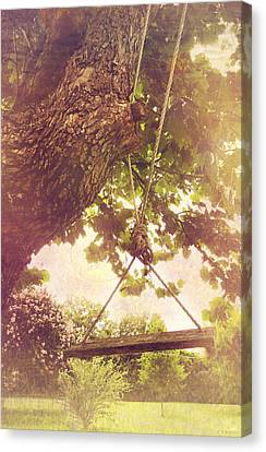 The Old Swing Canvas Print by Susan Bordelon