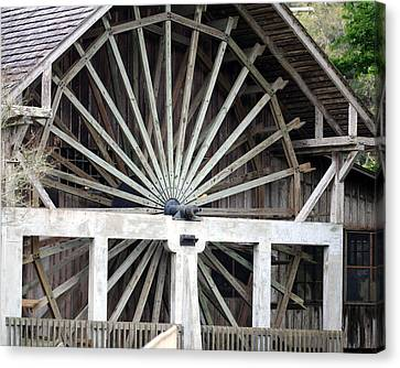 The Old Waterwheel Canvas Print by April Wietrecki Green
