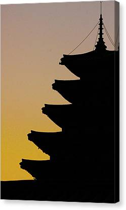 The Pagoda At Gyeongbukgong In Seoul Canvas Print by Photography by Simon Bond