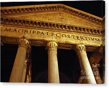 The Pantheon At Night Canvas Print by Kent Nickell