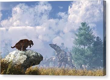 The Paraceratherium Migration Canvas Print by Daniel Eskridge