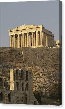 The Parthenon On The Acropolis Canvas Print by Richard Nowitz