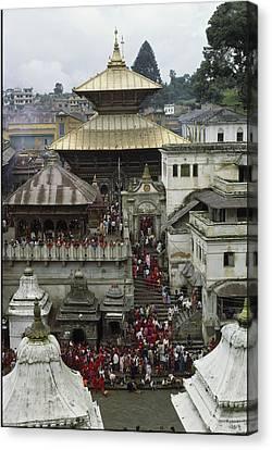 The Pashupatinath Temple Canvas Print by James P. Blair