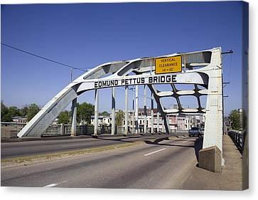 The Pettus Bridge In Selma Alabama Canvas Print by Everett