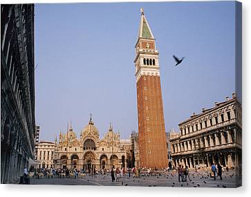 The Piazza San Marco Is The Focal Point Canvas Print by O. Louis Mazzatenta