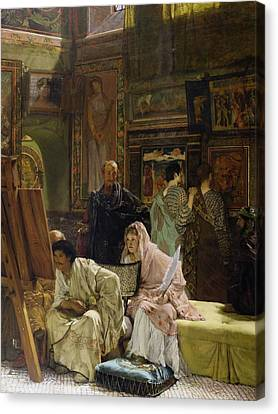 The Picture Gallery Canvas Print by Sir Lawrence Alma-Tadema