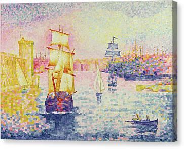 The Port Of Marseilles Canvas Print by Henri-Edmond Cross
