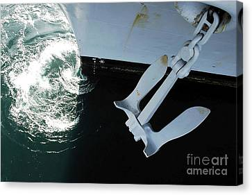 The Port Side Mark II Stockless Anchor Canvas Print by Stocktrek Images