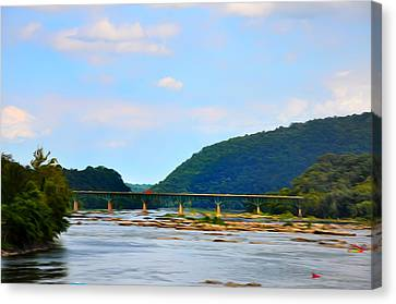 The Potomic River West Virginia Canvas Print by Bill Cannon