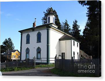 The Potter School House . Bodega Bay . Town Of Bodega . California . 7d12472 Canvas Print by Wingsdomain Art and Photography