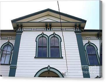 The Potter School House . Bodega Bay . Town Of Bodega . California . 7d12482 Canvas Print by Wingsdomain Art and Photography