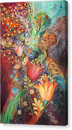 The Princesses Of Garden Canvas Print by Elena Kotliarker