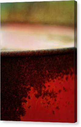 The Red Barrel Canvas Print by Rebecca Sherman