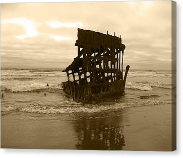 The Remains Of A Ship Canvas Print by Kym Backland