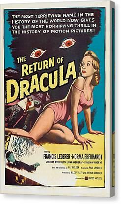 The Return Of Dracula, Francis Lederer Canvas Print by Everett