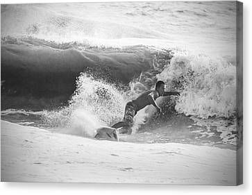 The Right Wave Canvas Print by Nicholas Evans