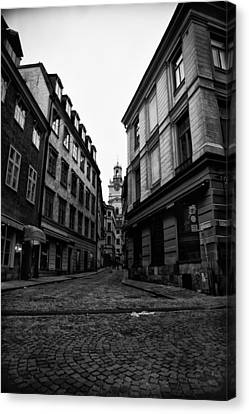The Right Way Stockholm Canvas Print by Stelios Kleanthous
