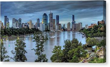 The River Commute Canvas Print by Mark Lucey