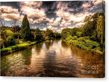The River Exe At Bickleigh Canvas Print by Rob Hawkins