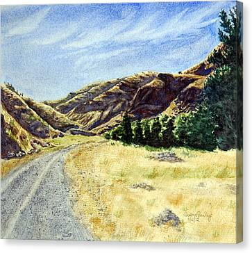 The Road Home Canvas Print by Susan Pawley