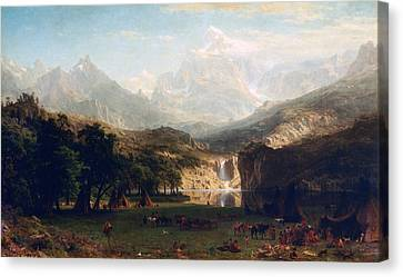 'the Rocky Mountains' By Albert Bierstadt Canvas Print by Photos.com