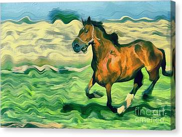 The Running Horse Canvas Print by Odon Czintos