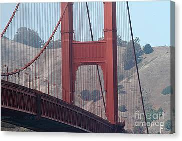 The San Francisco Golden Gate Bridge - 7d19057 Canvas Print by Wingsdomain Art and Photography