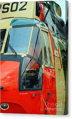The Sea King Helicopter Used Canvas Print by Luc De Jaeger