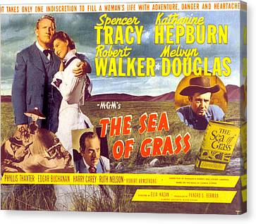 The Sea Of Grass, Spencer Tracy Canvas Print by Everett