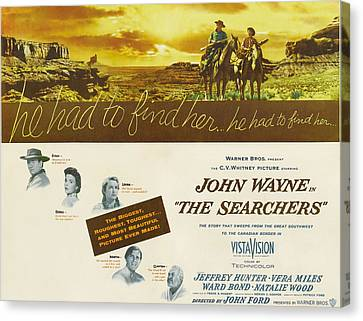 The Searchers, John Wayne, Natalie Canvas Print by Everett