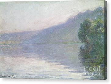 The Seine At Port Villez Canvas Print by Claude Monet