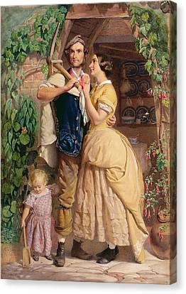 The Sinews Of Old England Canvas Print by George Elgar Hicks