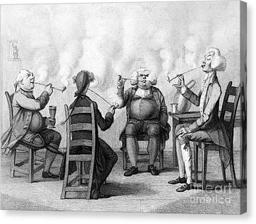 The Smoking Club Canvas Print by Granger