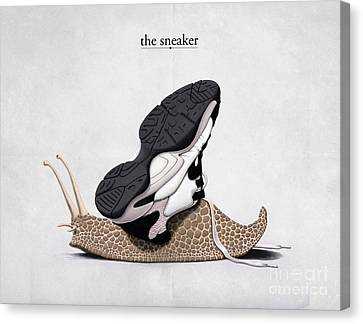 The Sneaker Canvas Print by Rob Snow