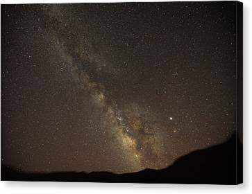 The Southern Milky Way Above Meteor Canvas Print by Stephen Alvarez